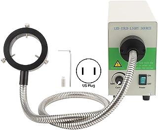 Microscopio de 5500 K, fuente de luz ajustable, anillo de luz LED de fibra óptica, fuente de luz fría, diámetro interior 60 mm