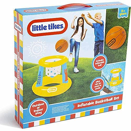 little tikes Juego de Baloncesto Inflable, Piscina al Aire Libre y Juego de Interior