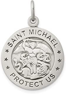 Roy Rose Jewelry Sterling Silver Antiqued Saint Michael Marine Corp Medal