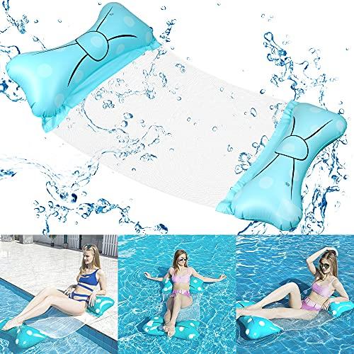 O-Kinee Uppblåsbar simsäng, uppblåsbar hängmatta, 4-i-1 loungefåtölj pool, uppblåsbar simsäng, pool hammock, uppblåsbar hammock för vuxna barn