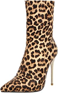 MisaKinsa Women Fashion Ankle Boots Thin High Heels Evening Boots