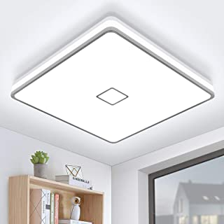 Luminaire Plafonnier LED Salle de Bain Lampe Plafond Öuesen 24W 2050LM IP44 5000K Blanc Froid Brillant Moderne Plafonnier ...