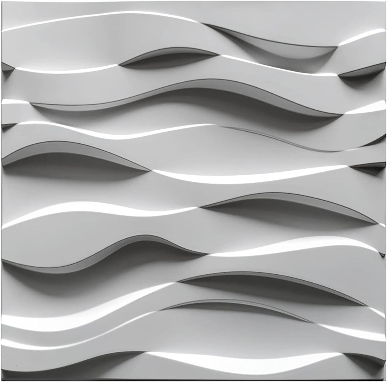 HOLSKEAT 12Pcs 3D Be super welcome Wall Panels 50 X Bathroom PVC Livin Some reservation 50Cm Tiles