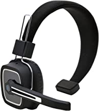 Truck Driver Bluetooth Headset/Office Headset, Wireless Over The Head Headset with Extra Boom Noise Reduction Mic for Phones,Call Center, Skype, VoIP