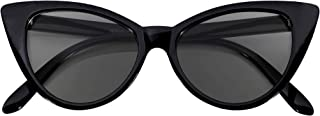 Cateye Sunglasses for Women Classic Vintage High Pointed Winged Retro Design