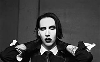NewBrightBase Marilyn Manson Fabric Cloth Rolled Wall Poster Print - Size: (40