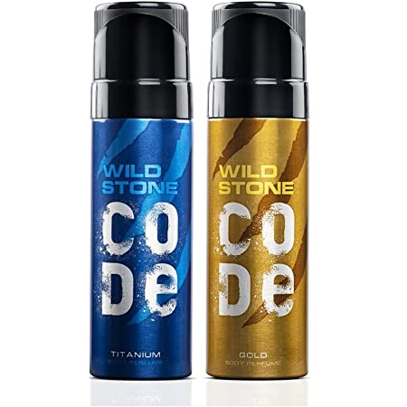 Wild Stone Code Gold & Titanium No Gas Body Perfume Combo for Men,, Pack of 2 (120ml each)