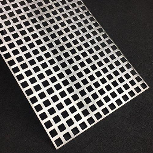 Lochblech Edelstahl QG10-15 V2A K240 1,5mm Zuschnitt individuell auf Maß NEU günstig (500 mm x 100 mm)