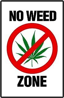 警告サイン No Weed Zone マリファナ 420 Weed Dope Mary Jane ポスター - 12x18 警告サイン Poster 12x18 inch 175821