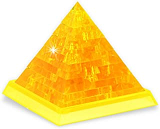 Rnow 3D Crystal Puzzle DIY Pyramid Model Fancy Toys 38PCS Handmade Christmas Gift for Age 14+