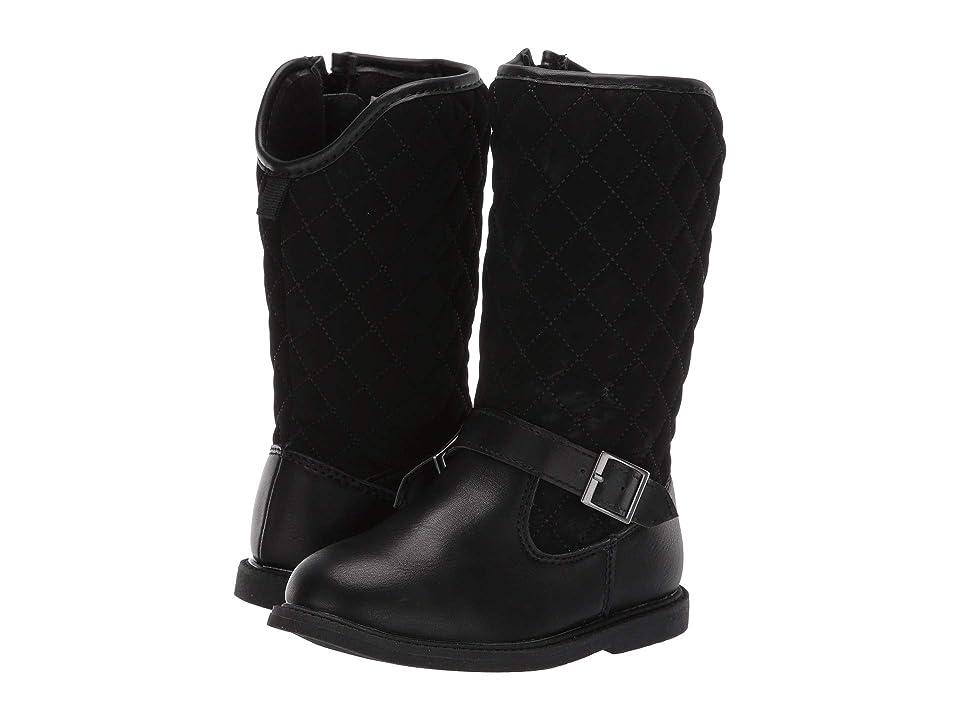 Carters Claress Fashion Boot (Toddler/Little Kid) (Black PU/Lamy PU) Girl
