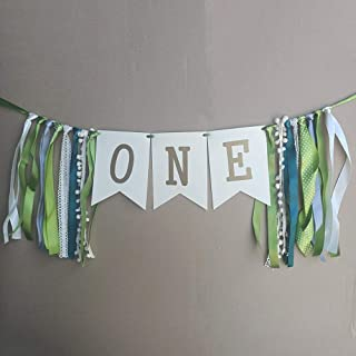 ONE Banner - Theme Party First Birthday High Chair Banner, Birthday Party Decorations, Baby Birthday Party Banners (Unicorn)