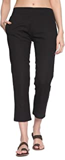 Rapsodia Stretchable Trouser Pants for Women (Black)