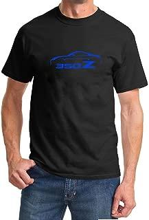 2002-08 Nissan 350Z Coupe Classic Blue Color Design Tshirt