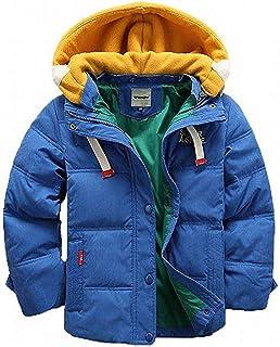 Lisa Pulster 子ども ダウンジャケット ダウンベスト ダウンコート 中綿コート キッズ 防寒 フード付き アウター 男の子 冬 ボーイズ