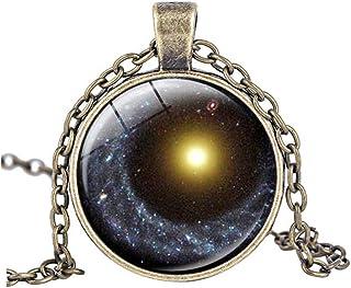 vdfr521?Galaxyペンダント、ネックレスGalaxy Nebula、ジュエリー、スペースネックレス