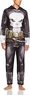 Marvel Men's Punisher Hooded Union Suit