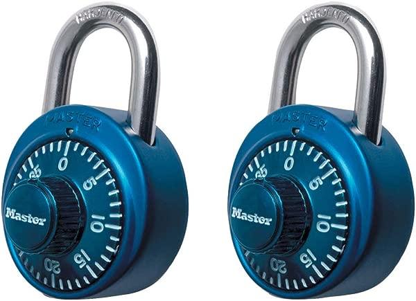 主锁 1530T 储物柜锁组合挂锁 2 个装拼色