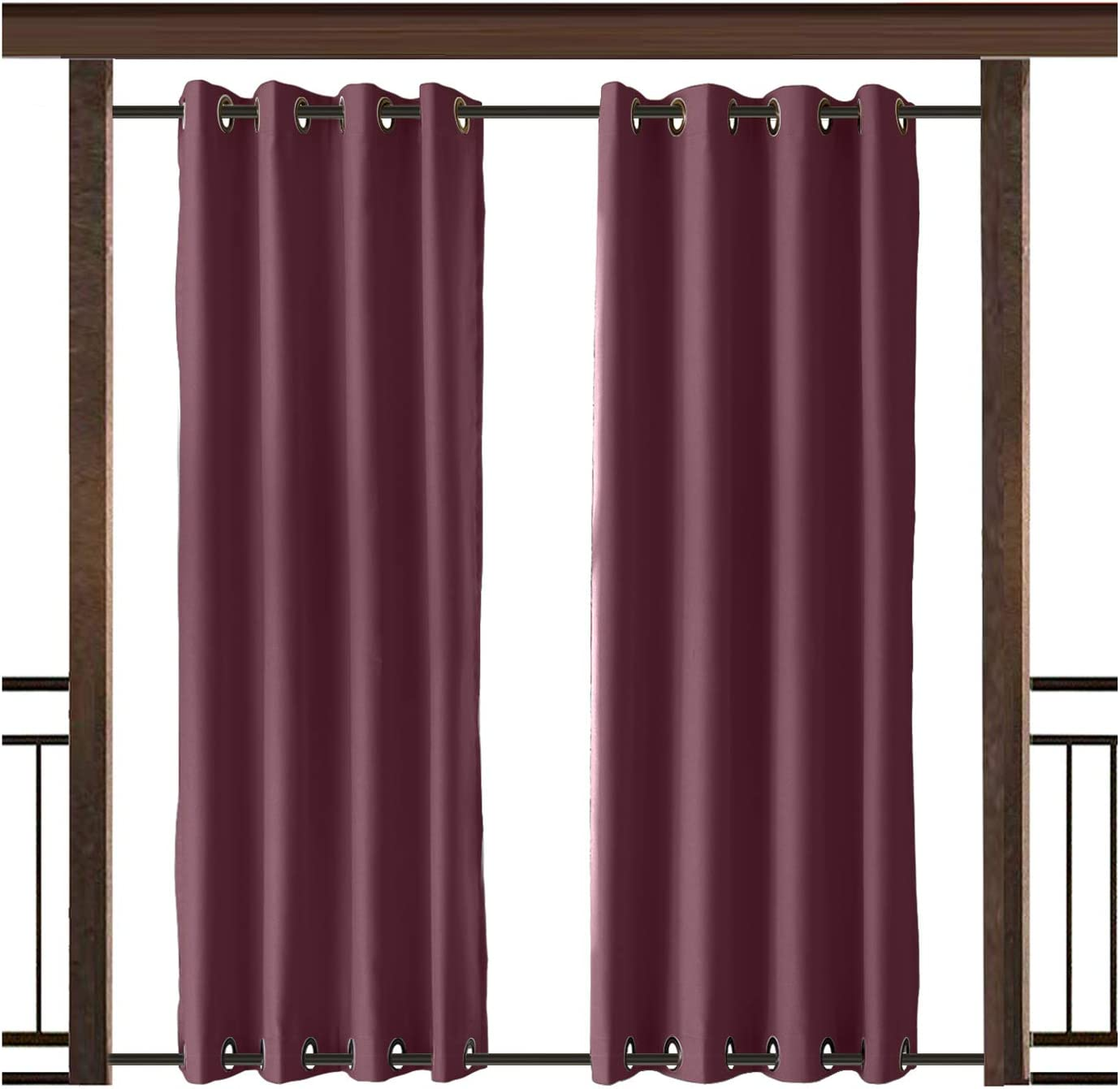 TWOPAGES Outdoor Curtain Rustproof Drape 店内限界値引き中 セルフラッピング無料 Waterproof 《週末限定タイムセール》 Both Grommet