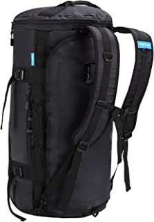 MIER Large Duffel Backpack Sports Gym Bag with Shoe Compartment, Heavy Duty & Water Resistant, Black, 45L/60L/90L