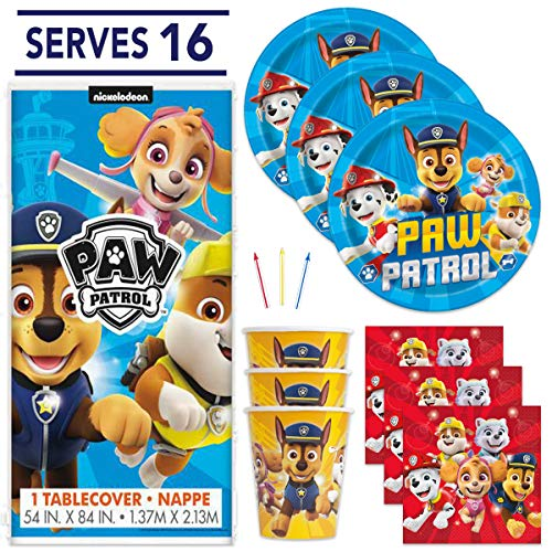 PAW Patrol Party Supplies (Serves 16 Guests)