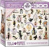 EuroGraphics Yoga Puppies 300-Piece Puzzle (Small Box), Multi