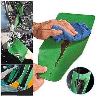waterfaill Herramienta de Drenaje Flexible Embudo Flexible, Embudo de Uso General, Herramienta de guía de Drenaje de Aceite de Agua Flexible para automóviles, Camiones, Motocicletas