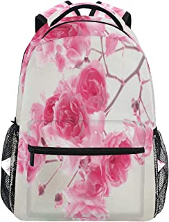 Women/Man Canvas Backpack Special Pretty Pink Roses Zipper College School Bookbag Daypack Travel Rucksack Gym Bag For Youth