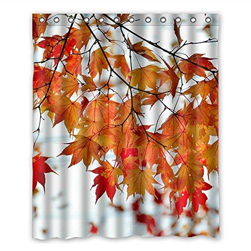 doubee haltbarer érable feuillus imperméable Polyester Rideau de douche Shower Curtain 152 cm x 183 cm, Polyester, E, 60\