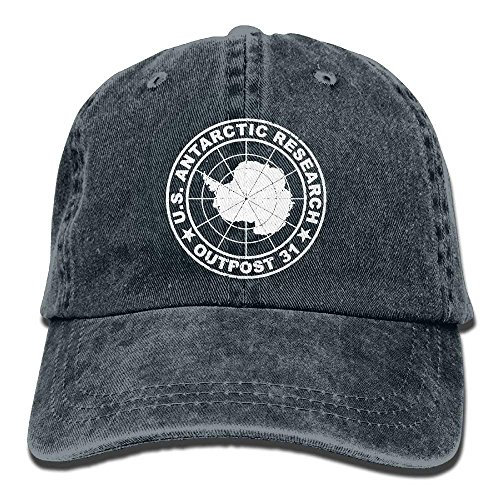 DearLord Outpost 31 Antarctica Research Retro Washed Dyed Adjustable Plain Cowboy Cap