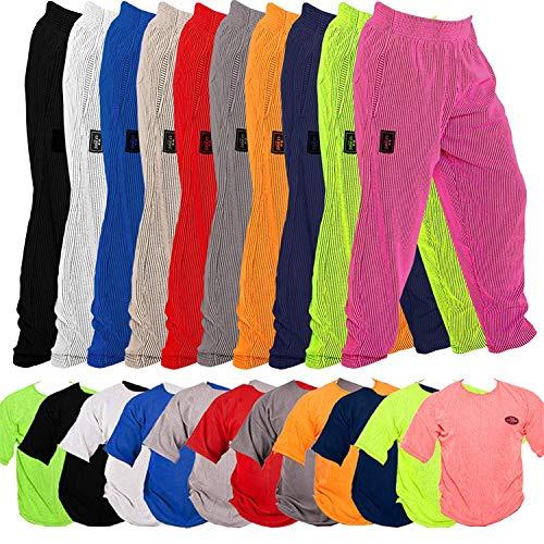 Comodi pantaloni e camicia sportivi, design a strisce a coste, alta qualità Dimensionalmente stabile e non si contrae, materiale: 50% cotone, 50% poliestere Disponibile nelle taglie: S - M - L - XL - XXL Colori disponibili: nero, bianco, grigio chiar...