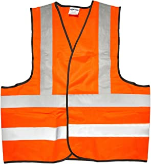 Surtek 137377 Chaleco de Seguridad Tela Naranja con Cintas Reflejantes