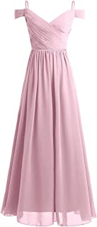 Women's Off The Shoulder Chiffon Bridesmaid Dress Formal Prom Long Evening Gowns