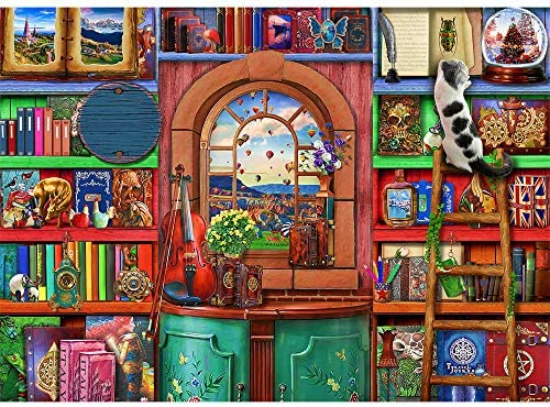 Jigsaw Puzzles 1000 Pieces for Adults Bizarre Bookshelf 1000 Piece Jigsaw Puzzle Home Puzzle product image