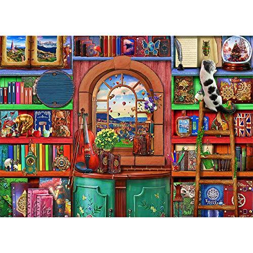 Puzzle 1000 Teile-Magisches Bücherregal Klassische Puzzle 1000,Impossible Puzzle Geschicklichkeitsspiel für die Ganze Familie,Farbenfrohes Puzzle für Erwachsene und Kinder ab 14 Jahren