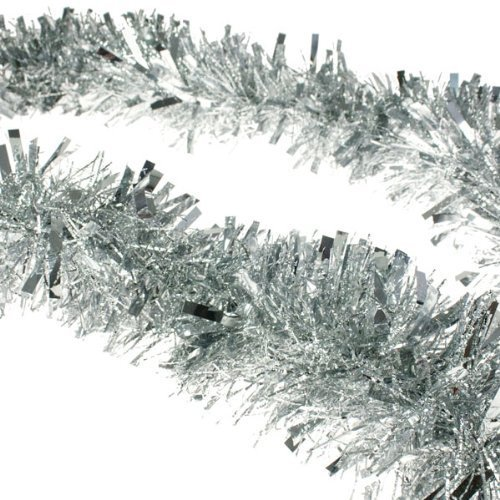 Beautifil Christmas Tinsel Tree Decorations Tinsel Garland Silver SuperiorQuality and CreativeDurable Durable