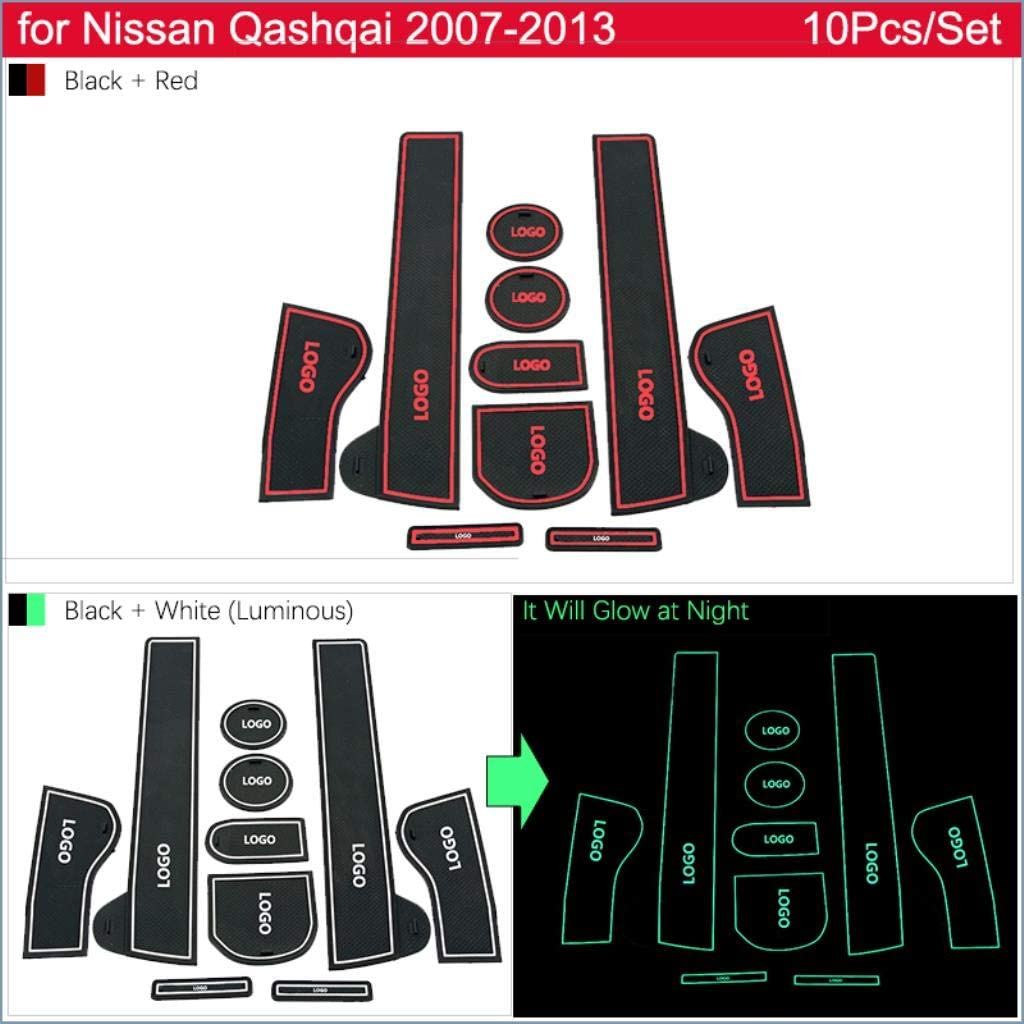 Per Nissan Qashqai J10 2007 20018 2009 2010 2011 2012 2013 Antiscivolo Porta Slot Pad Tazza di Gomma Zerbino Accessori Adesivi Per Auto