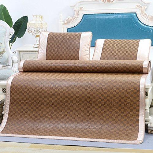 Tapis en trois pièces d'été 1.8m lit double simple dortoir étudiant 1.5 tapis pliant siège en rotin style classique lisse sans bavures, bandage anti-déplacement Xuan - worth having ( taille : 150*195cm )