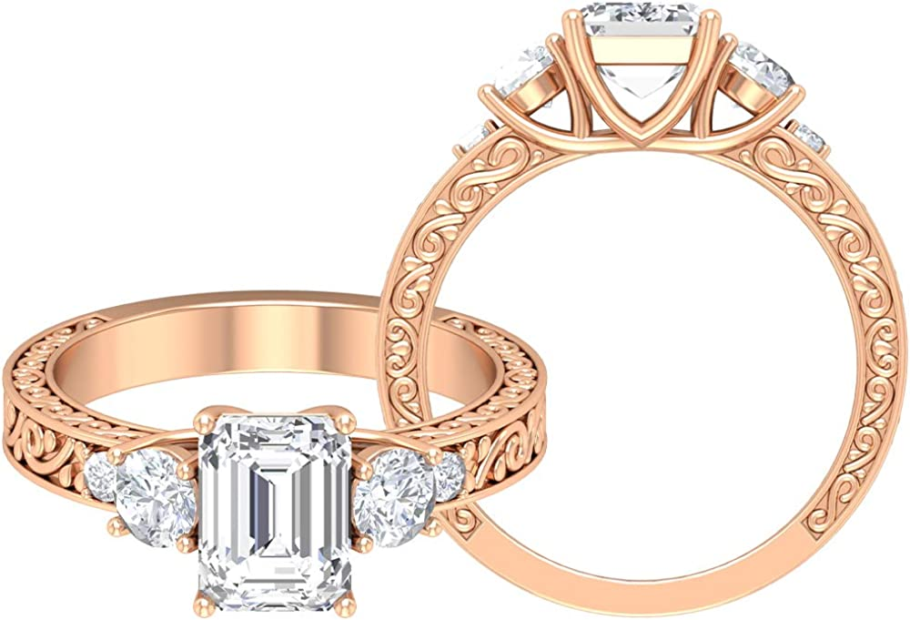 Rosec Jewels - Vintage OFFicial site Engagement Ring D-VSSI Moissa with 2.2 SEAL limited product CT