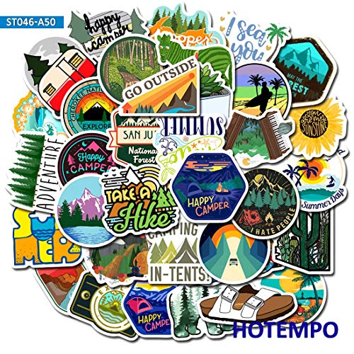 Outdoor-Abenteuer Tourismus Camping Picknick Aufkleber Persönlichkeit Koffer Notebook Kühlschrank wasserdichte Aufkleber Aufkleber 50 Blatt