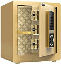 Safe Box Fireproof Waterproof, Fingerprint Password 40cm Office Anti-Theft Anti-Smashing Wall Safes with Invisible Handle ...