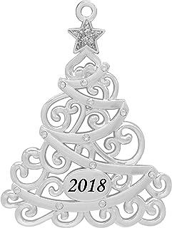 NOVELTY Christmas Tree Ornament Decoration Silver SHOE made with Swarovski