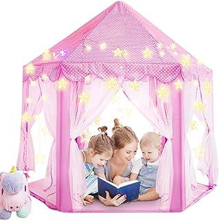 Magicfun Tienda de Princesa, Juego de Castillo niñas, Interior Tienda de Campaña para niños al Aire Libre Gran Playhouse c...