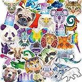 DSSJ 35 Unids Serie Animal Set Pegatinas Animal Diamante Maleta Equipaje Monopatín Cuaderno Pegatinas