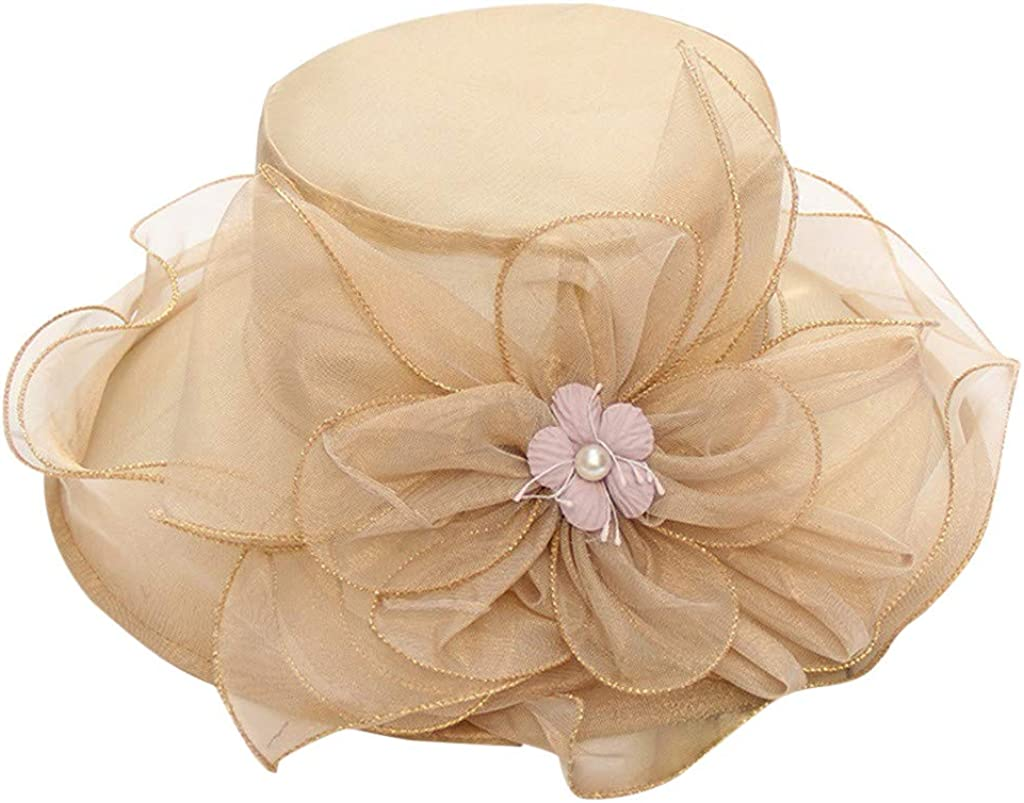 Women's Organza Church Kentucky Derby Fascinator Bridal Tea Party Wedding Hat
