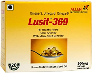Lusit-369/Flaxseed Oil (50 Veg Capsules - 500mg) by Allen Nutraceuticals