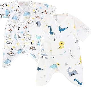 【 人気の2枚セット 】iikuru コンビ肌着 ベビー 半袖 男の子 かわいい 赤ちゃん 下着 新生児 0歳 コットン 肌着 セット y247