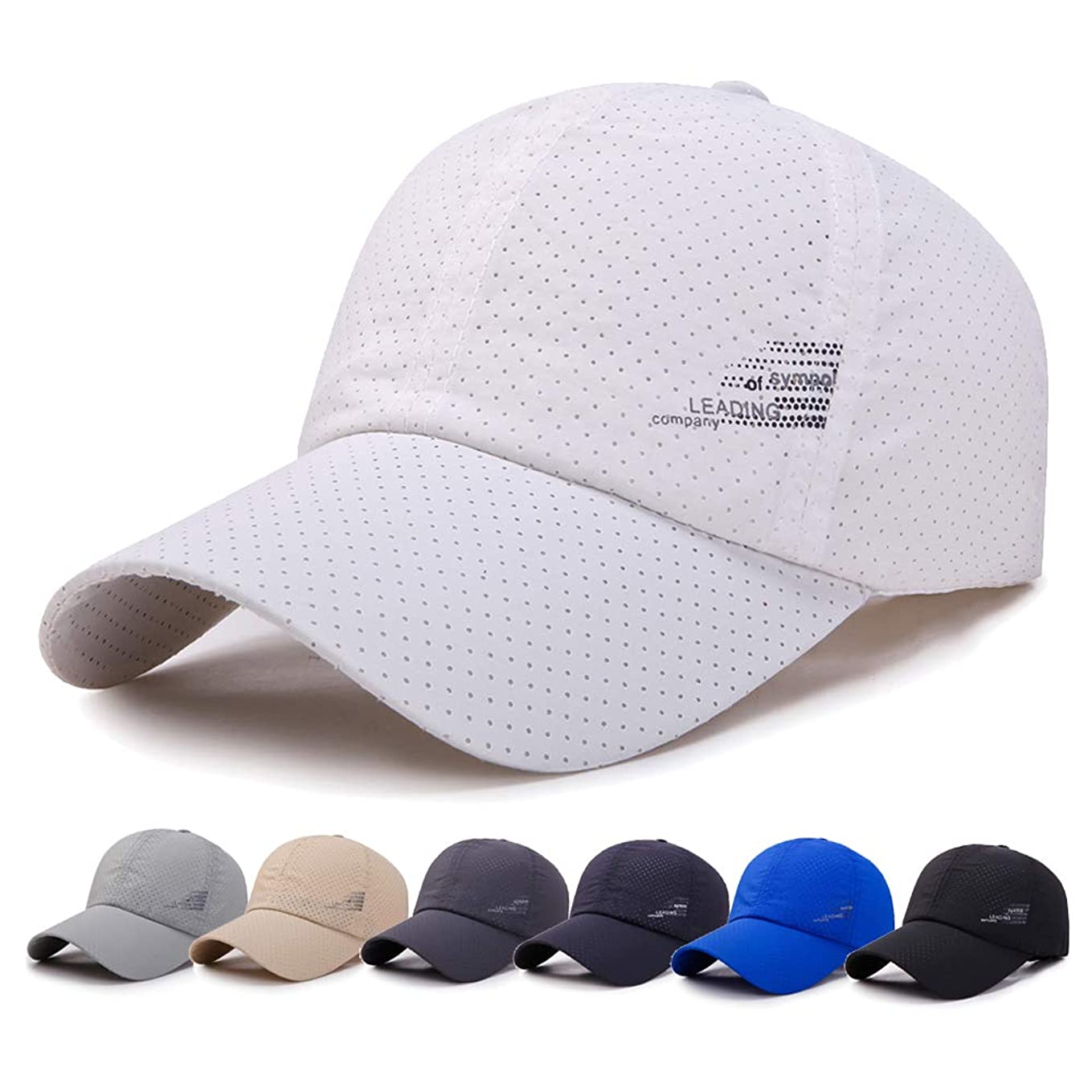ダムカメラナラーバーメッシュキャップ, 帽子 メンズ 通気性抜群 日除け UVカット 紫外線対策スポーツ帽子,男女兼用 速乾 軽薄 日よけ野球帽,登山 釣り ゴルフ 運転 アウトドアなどにメッシュ帽