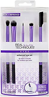 Real Techniques Brush Set (Technique Essentials 1400, Flawless Base Set 1533, Enhanced Eye 1534)