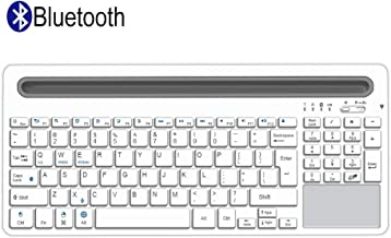 Alitoo Bluetooth Keyboard,Wireless Keyboard with Touchpad and Numeric Keypad,Portable Rechargeable Full Size Keyboard,Compatibile with iPad Mini,Mac,Laptop,Smartphone and Tablets PC Multi-Device